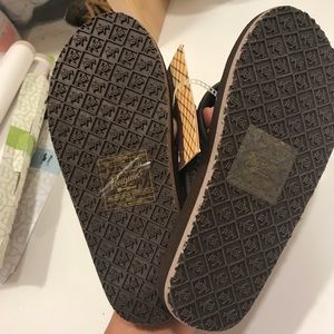 "0eea0d58359f Original Penguin Shoes - Penguin Woven ""leather"" flip flops"